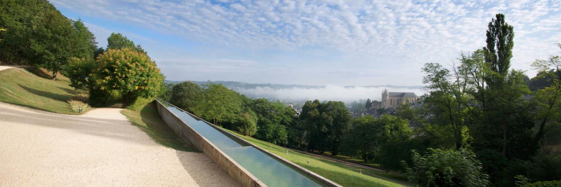 Jardins de l'Imaginaire vue panoramique du canal